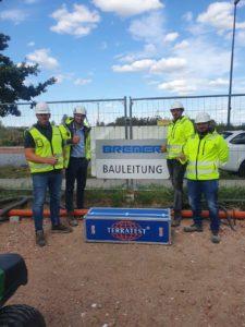 Leichtes Fallgewichtsgerät mit Bauleitung der Bremer AG